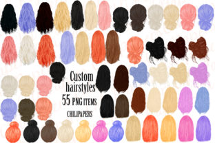 Custom Hairstyles Clipart,Hair Clipart, Graphic By ChiliPapers