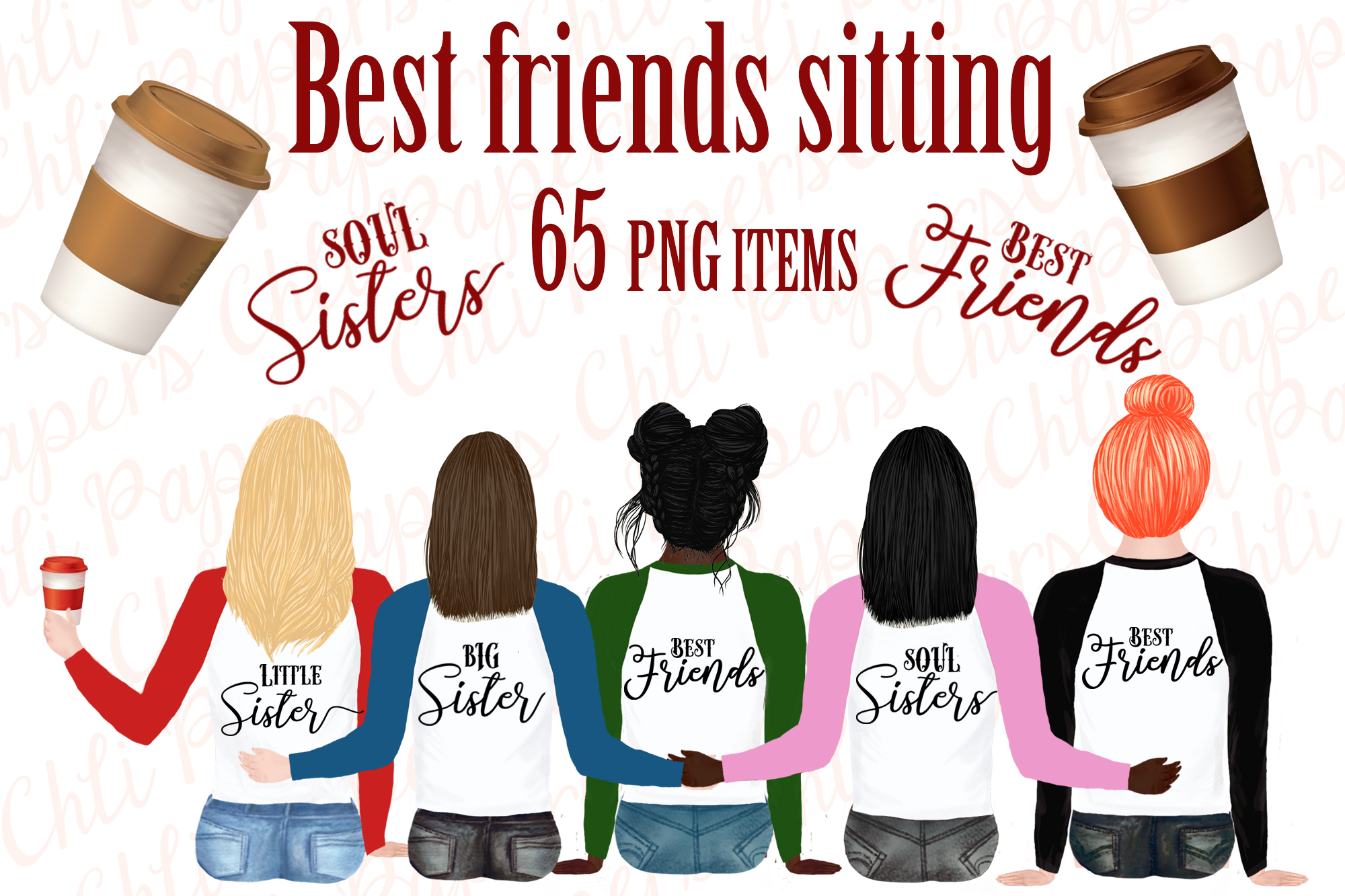 Download Free Best Friend Clipart Portret Creator Graphic By Chilipapers for Cricut Explore, Silhouette and other cutting machines.