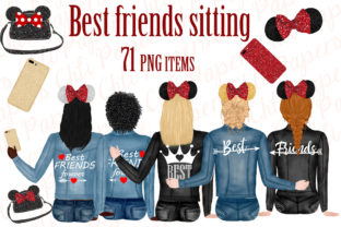 Best Friends Clipart,Custom Besties Graphic By ChiliPapers