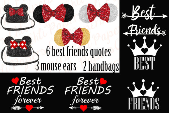 Download Free Best Friends Clipart Custom Besties Grafico Por Chilipapers for Cricut Explore, Silhouette and other cutting machines.