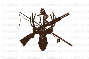 Download Free Distressed Hunting Graphic By Cutfilesgallery Creative Fabrica for Cricut Explore, Silhouette and other cutting machines.