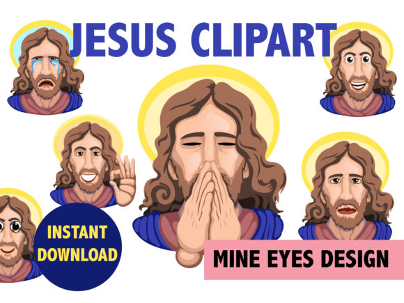 Jesus Clipart Graphic Illustrations By Mine Eyes Design