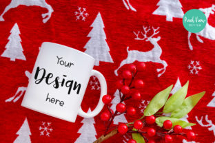 White Coffee Mug Mock-Up | Christmas Graphic By Pixel View Design