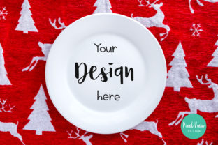 White Plate Mock-up | Christmas Graphic By Pixel View Design