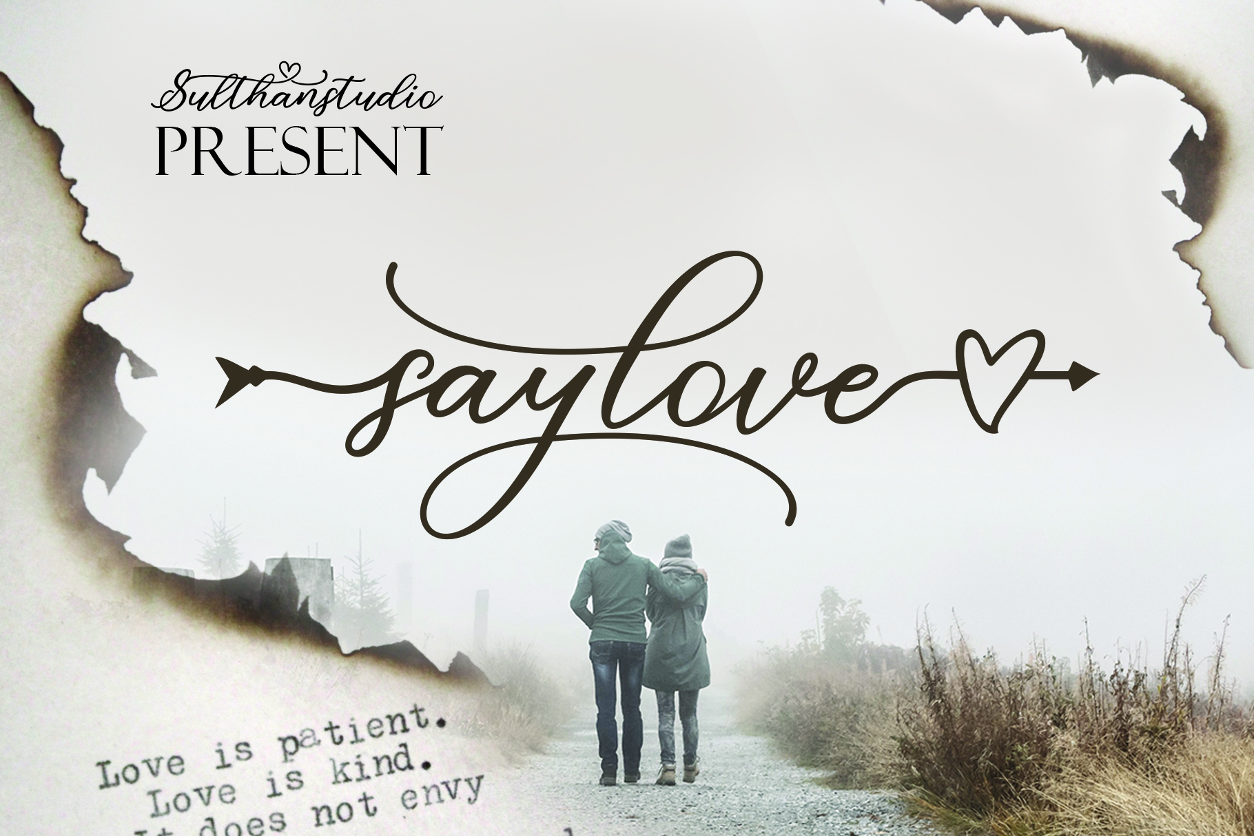 Download Free Say Love Font By Sulthan Studio Creative Fabrica for Cricut Explore, Silhouette and other cutting machines.