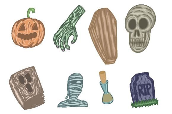 Download Free Halloween Trick Or Treat Doodle Graphic By Firdausm601 for Cricut Explore, Silhouette and other cutting machines.