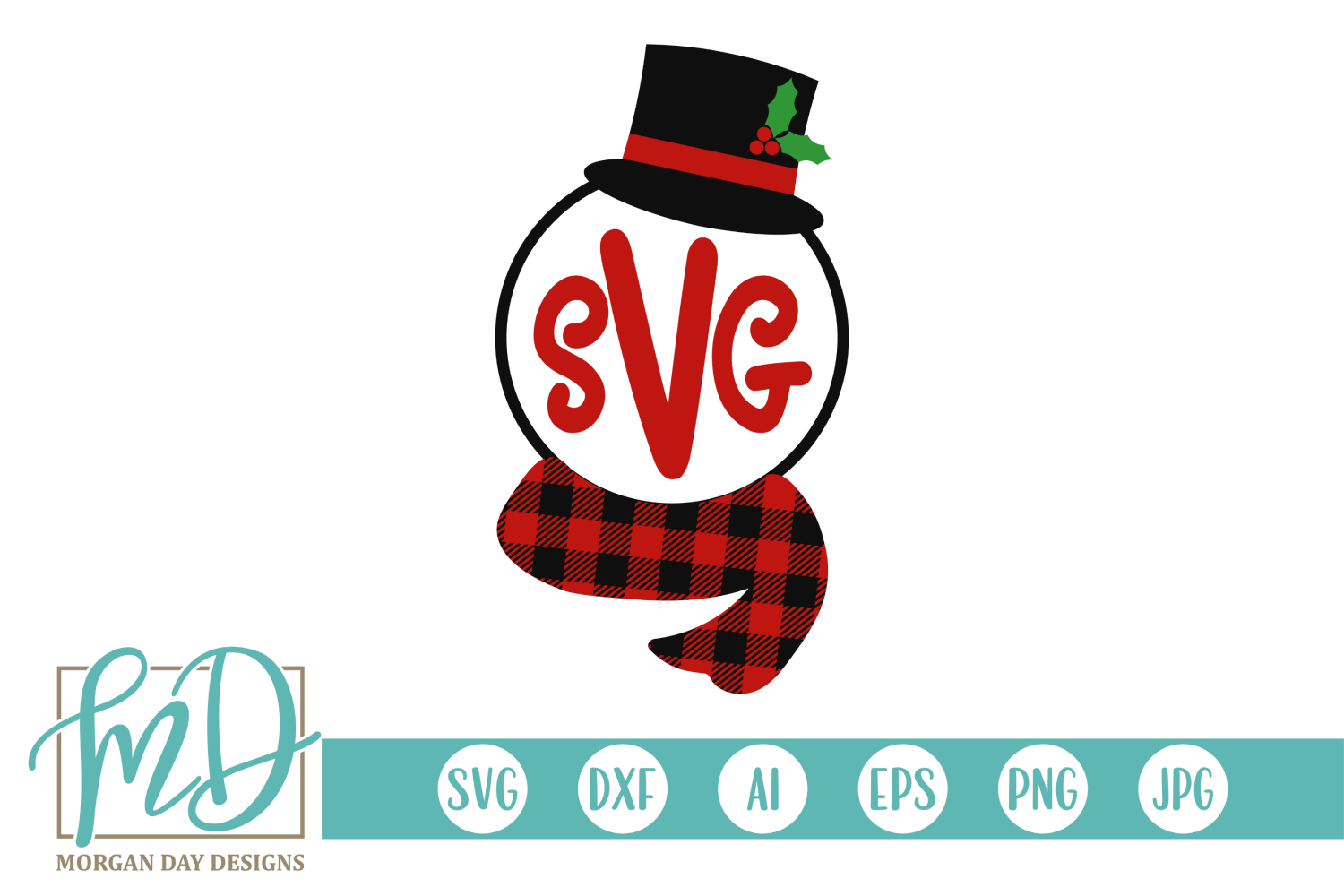 Download Free Snowman Monogram Frame Graphic By Morgan Day Designs Creative for Cricut Explore, Silhouette and other cutting machines.