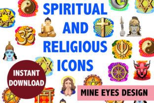 Spiritual and Religious Clipart Graphic By Mine Eyes Design
