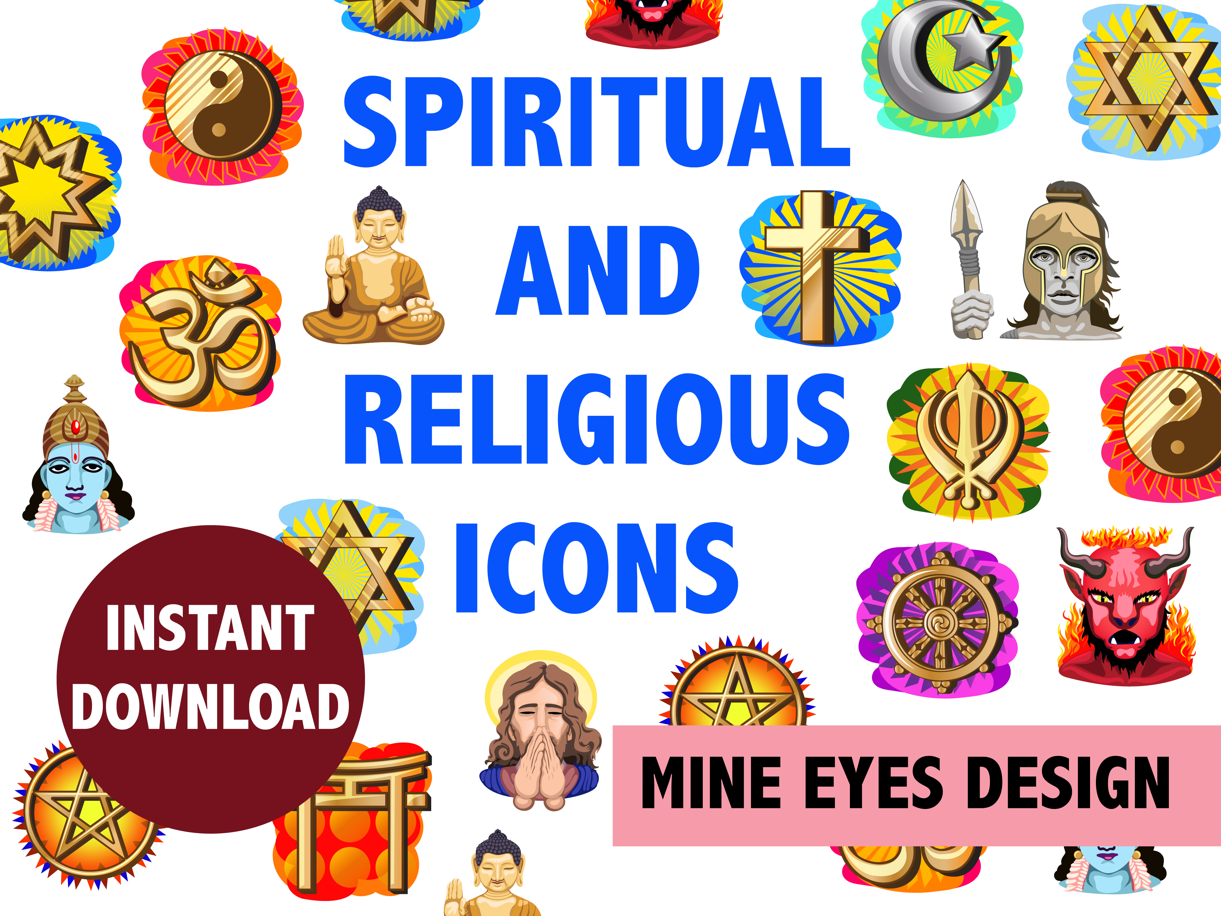 Download Free Spiritual And Religious Clipart Graphic By Mine Eyes Design for Cricut Explore, Silhouette and other cutting machines.