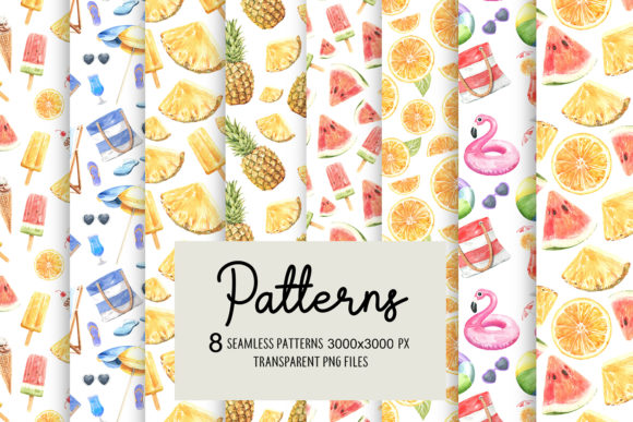 Print on Demand: Summer Digital Seamless Pattern Graphic Illustrations By SapG Art - Image 3