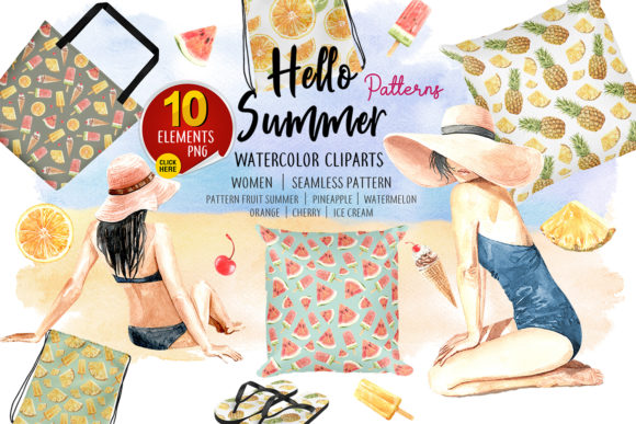 Print on Demand: Summer Digital Seamless Pattern Graphic Illustrations By SapG Art - Image 1