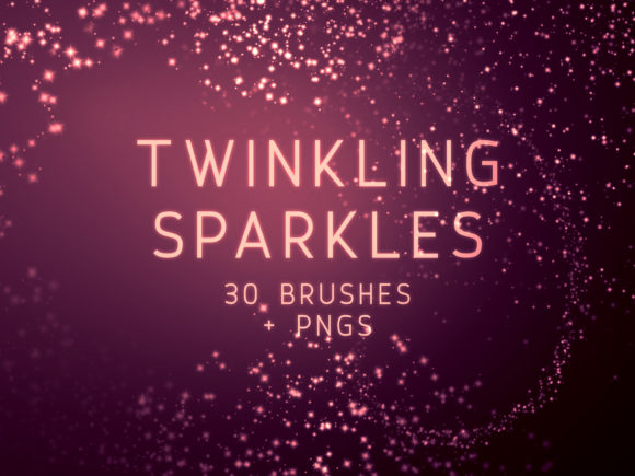 Print on Demand: Twinkling Sparkles PS Brushes Graphic Brushes By OA Design