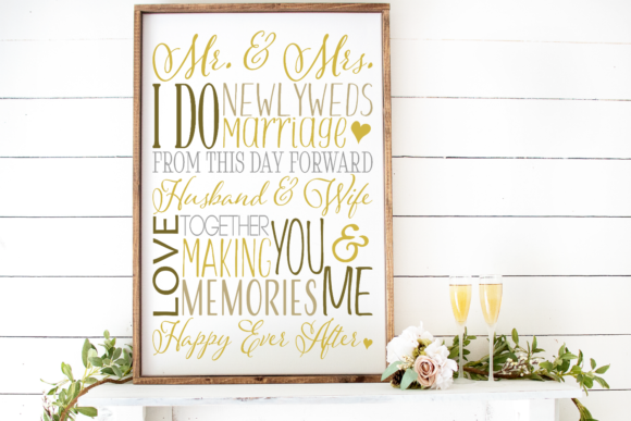 Wedding Subway Art Graphic By Morgan Day Designs Image 2