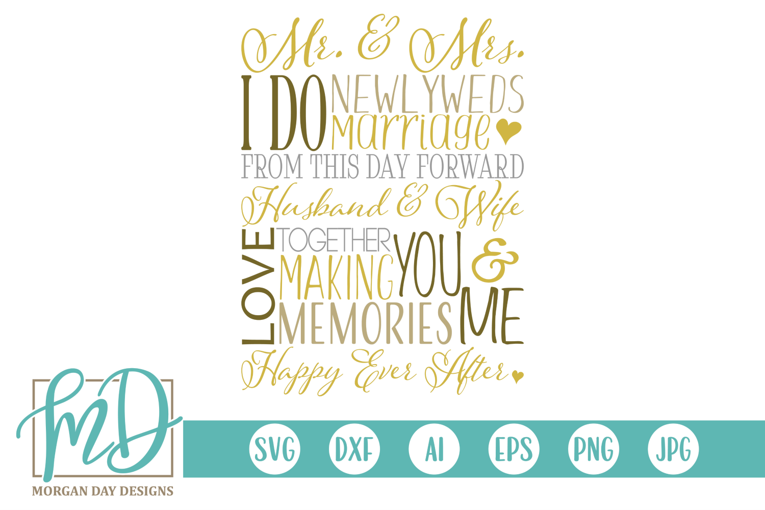 Download Free Wedding Subway Art Graphic By Morgan Day Designs Creative Fabrica SVG Cut Files
