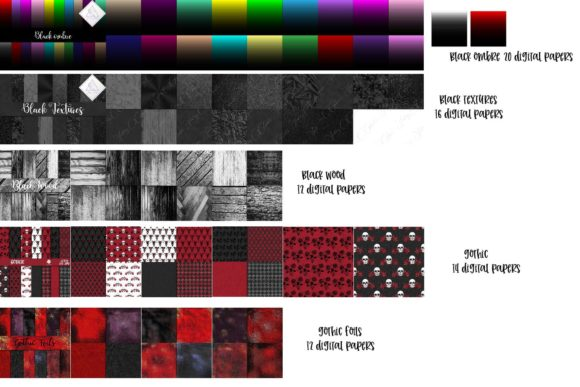 Print on Demand: Gothic BUNDLE Graphic Textures By fantasycliparts - Image 2
