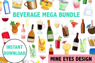 Alcoholic Beverage Clipart Bundle Graphic By Mine Eyes Design