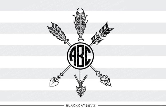 Download Free Arrows Monogram Svg Grafico Por Blackcatsmedia Creative Fabrica for Cricut Explore, Silhouette and other cutting machines.