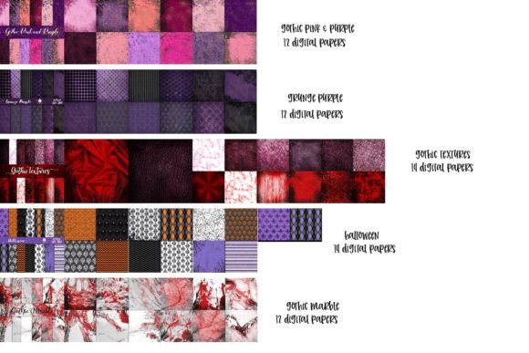 Print on Demand: Gothic BUNDLE Graphic Textures By fantasycliparts - Image 3