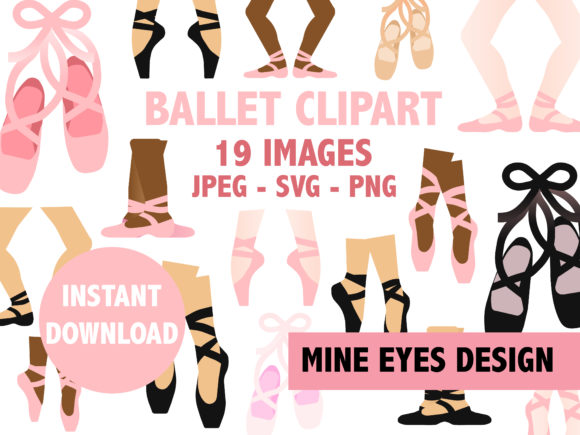Print on Demand: Ballet Clipart Graphic Illustrations By Mine Eyes Design - Image 1