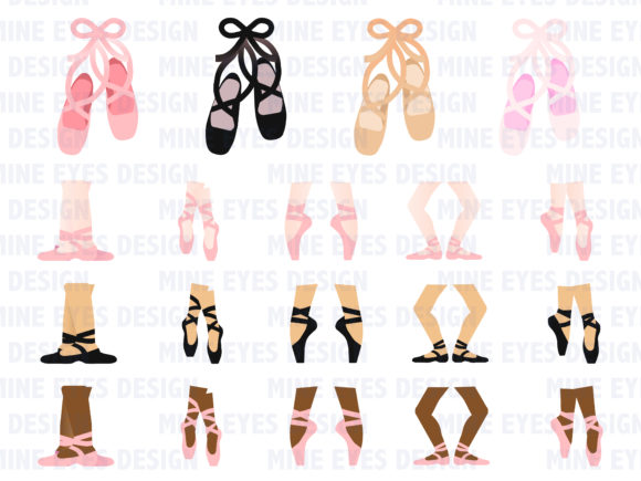 Print on Demand: Ballet Clipart Graphic Illustrations By Mine Eyes Design - Image 2