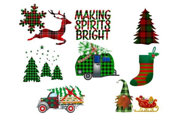 Print on Demand: 24 Christmas Plaid Lumberjack PNG Files Graphic Graphic Templates By Scrapbook Attic Studio - Image 2