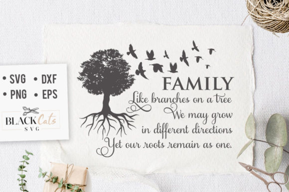 Family Like Branches Of A Tree Svg Graphic By Blackcatsmedia