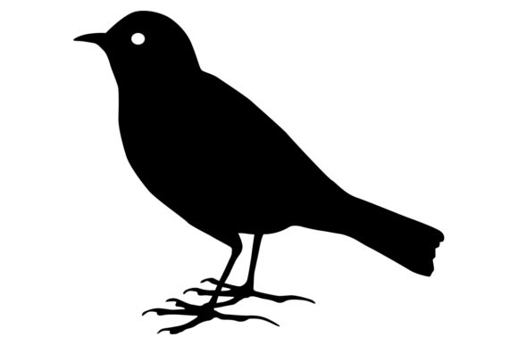 Download Free Lark Bird Silhouette Graphic By Idrawsilhouettes Creative Fabrica for Cricut Explore, Silhouette and other cutting machines.