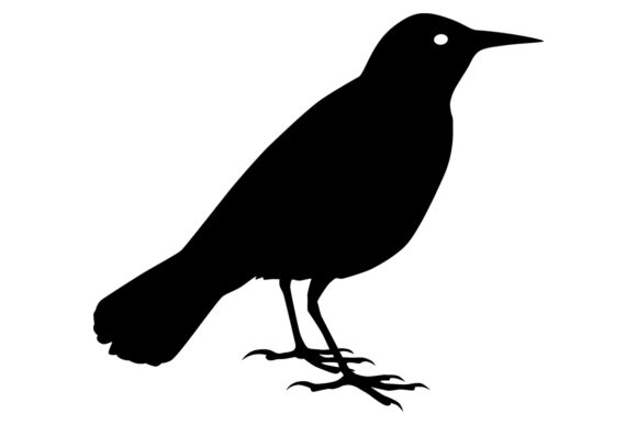 Download Free Meadowlark Bird Silhouette Graphic By Idrawsilhouettes for Cricut Explore, Silhouette and other cutting machines.