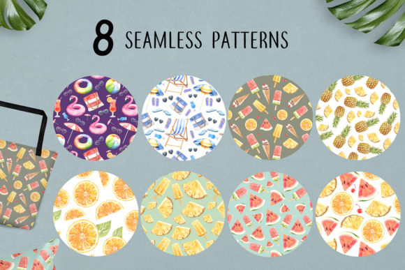 Print on Demand: Summer Digital Seamless Pattern Graphic Illustrations By SapG Art - Image 4