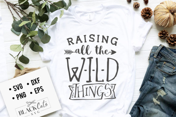 Raising All the Wild Things SVG Graphic Crafts By BlackCatsMedia