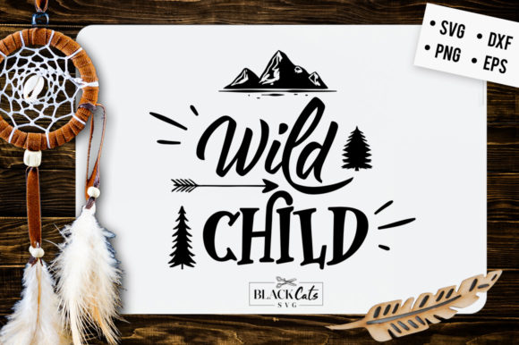 Download Free Wild Child Svg Graphic By Blackcatsmedia Creative Fabrica for Cricut Explore, Silhouette and other cutting machines.