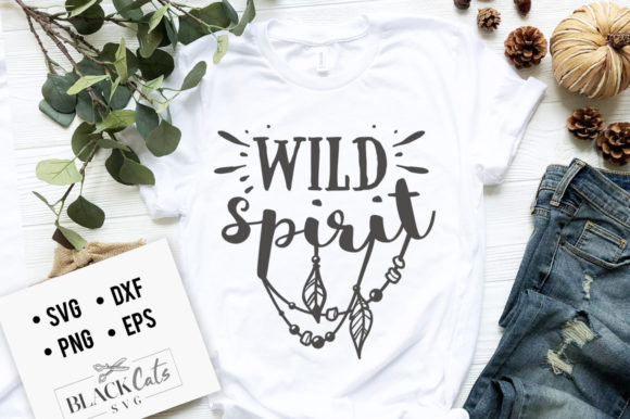 Download Free Wild Spirit Svg Graphic By Blackcatsmedia Creative Fabrica for Cricut Explore, Silhouette and other cutting machines.
