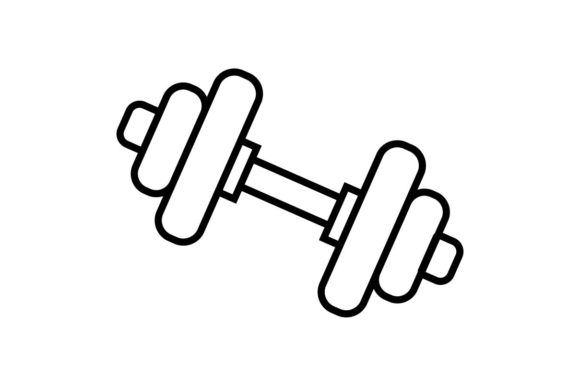 Download Free Dumbells Gym Fitness Workout Icon Graphic By Hoeda80 for Cricut Explore, Silhouette and other cutting machines.