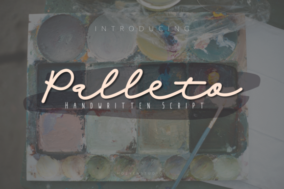 Print on Demand: Palleto Script & Handwritten Font By mozyenstudio