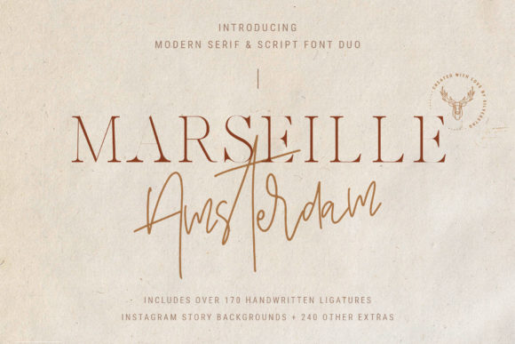 Print on Demand: Marseille & Amsterdam Duo Serif Font By SilverStag