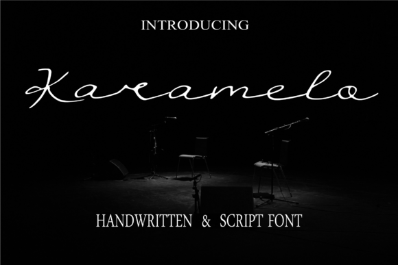 Print on Demand: Karamelo Script & Handwritten Font By choirul.archan