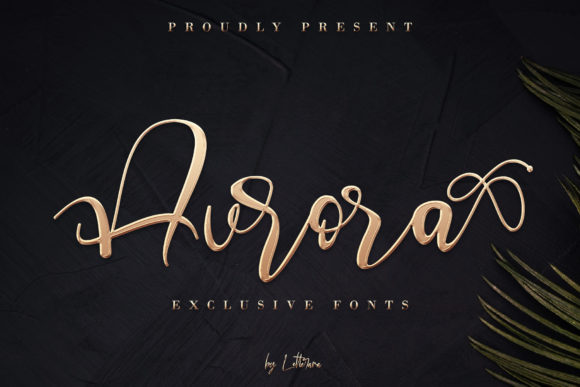 Print on Demand: Aurora Script & Handwritten Font By thomasaradea