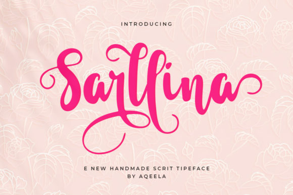 Print on Demand: Sarllina Script & Handwritten Font By Aqeela Studio - Image 1