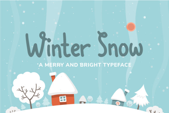 Print on Demand: Winter Snow Display Font By Helotype - Image 1