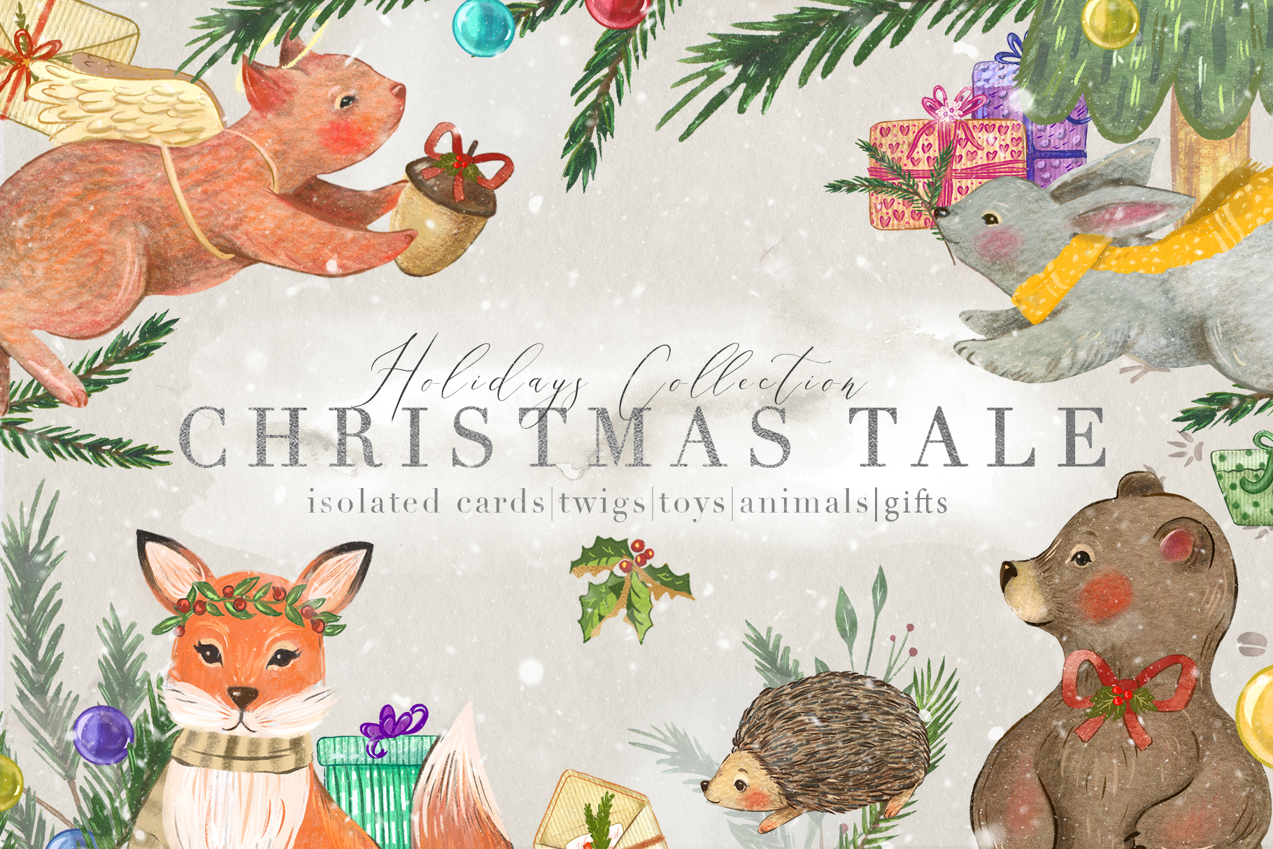 Download Free Christmas Tale Graphic Collection Graphic By Nassyart Creative for Cricut Explore, Silhouette and other cutting machines.
