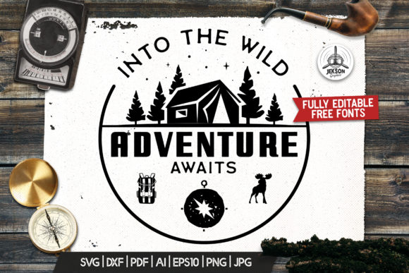 Retro Camp T-Shirt Design Logo Adventure Graphic Logos By JeksonGraphics
