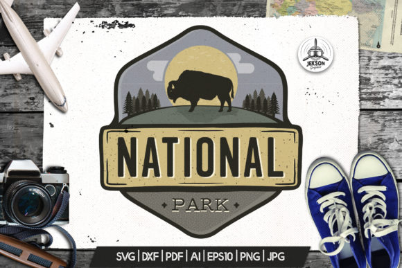 Download Free Park Logo Vintage Adventure Badge Camp Graphic By Jeksongraphics for Cricut Explore, Silhouette and other cutting machines.
