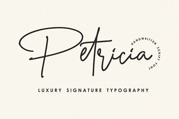 Print on Demand: Petricia Script & Handwritten Font By Hanzel Studio