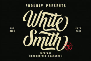 White Smith Manuscrita Fuente Por Hanzel Studio