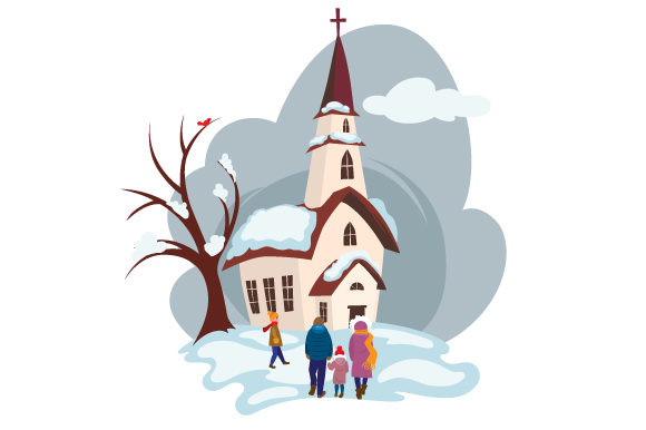 Download Free Family Walking In Winter Clothes To Church Svg Cut File By for Cricut Explore, Silhouette and other cutting machines.