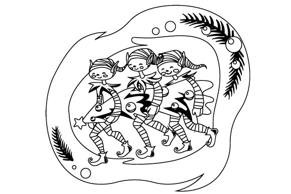Download Free Elves Carrying Christmas Tree Svg Cut File By Creative Fabrica SVG Cut Files