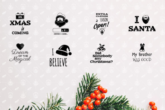Christmas Sayings SVG Bundle Graphic Crafts By JeksonGraphics - Image 2