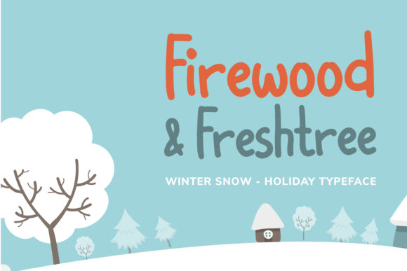 Print on Demand: Winter Snow Display Font By Helotype - Image 2