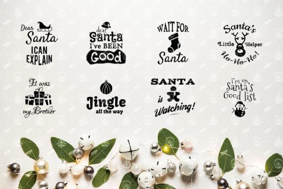 Christmas Sayings SVG Bundle Graphic Crafts By JeksonGraphics - Image 3