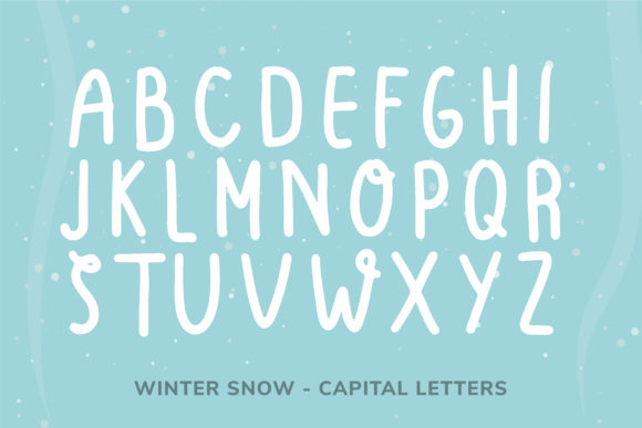 Print on Demand: Winter Snow Display Font By Helotype - Image 4